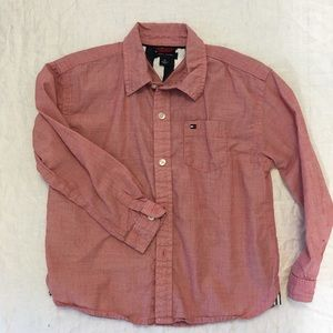 Tommy Hilfiger Boys Pink button down shirt size 4T